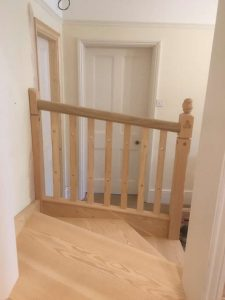Staircase in Douglas Fir leading into dressing room 7