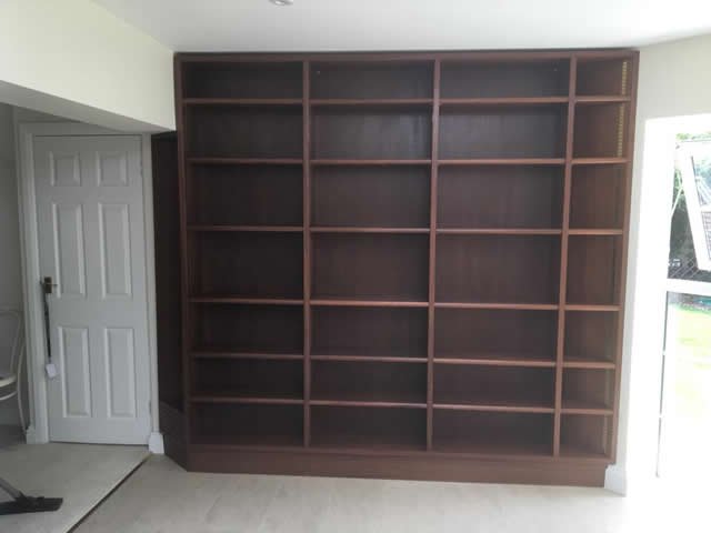Hardwood bookcases installed in Caterham Surrey 10