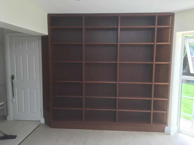 Hardwood bookcases installed in Caterham Surrey 11