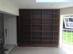 Hardwood bookcases installed in Caterham Surrey 12
