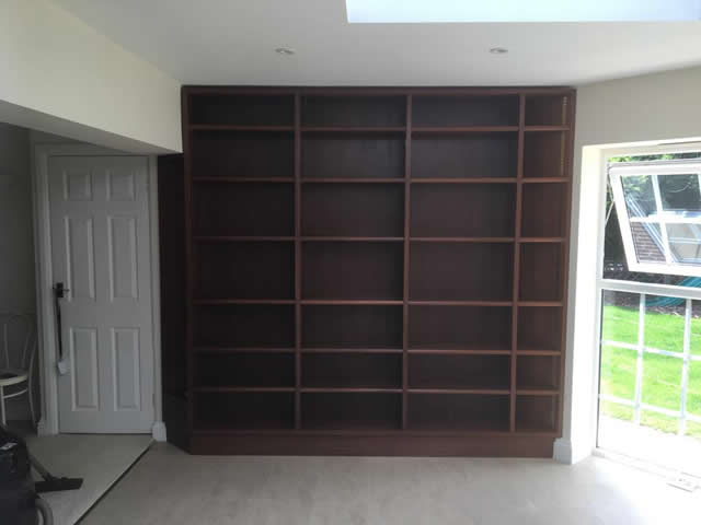Hardwood bookcases installed in Caterham Surrey 12