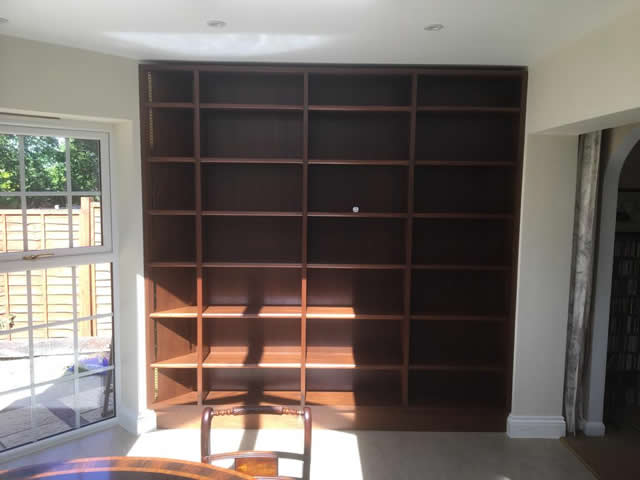 Hardwood bookcases installed in Caterham Surrey 5