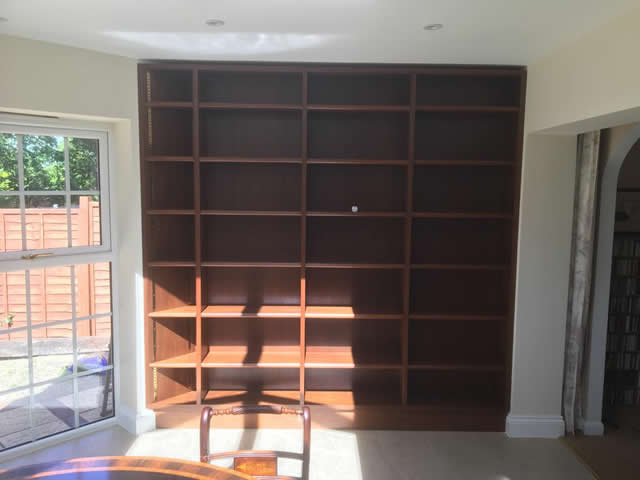Hardwood bookcases installed in Caterham Surrey 6