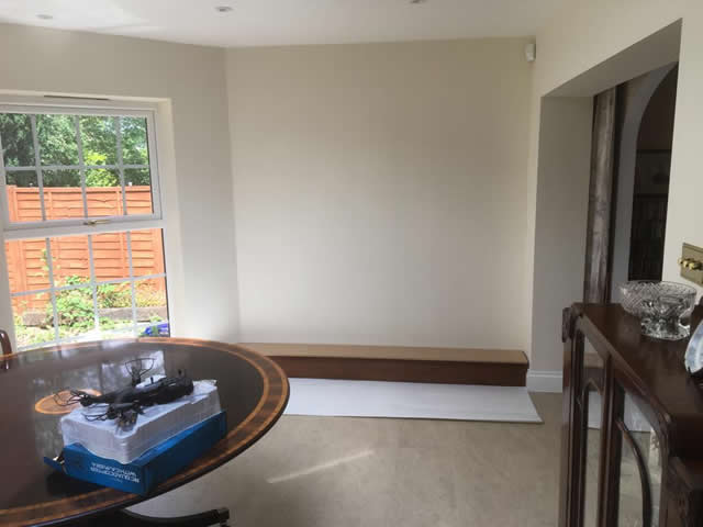 Hardwood bookcases installed in Caterham Surrey