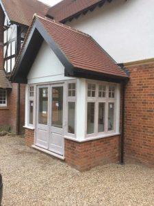 Porch doors windows in hardwood 3