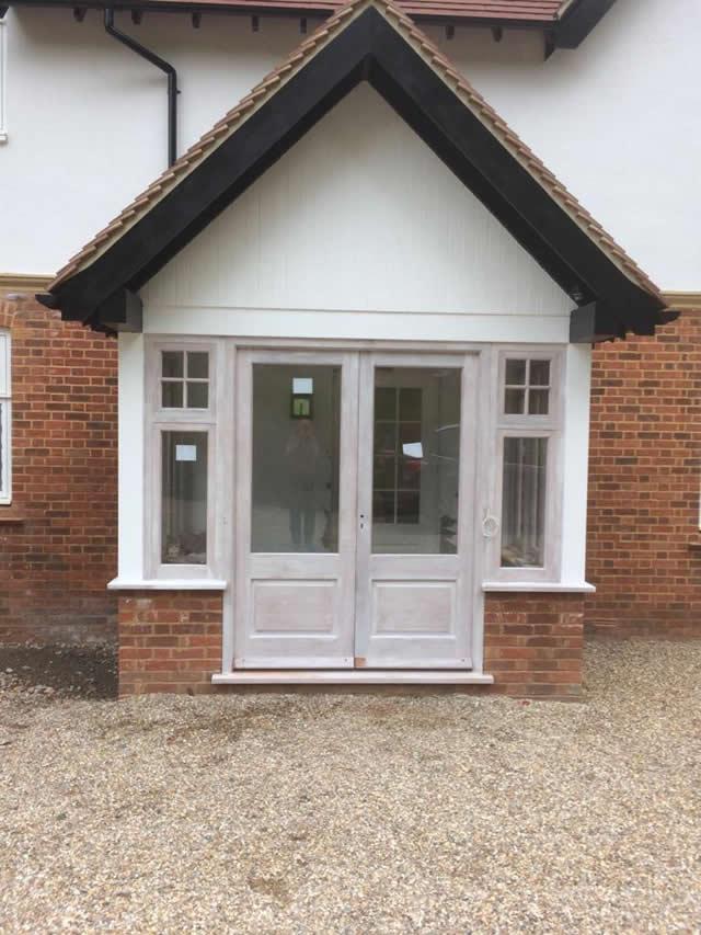 Porch doors windows in hardwood 4