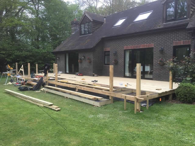 Large bespoke decking are in Newdigate 2