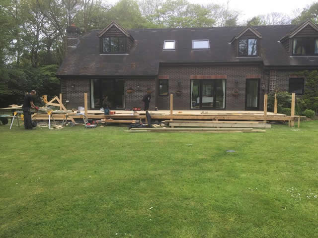 Large bespoke decking are in Newdigate 3