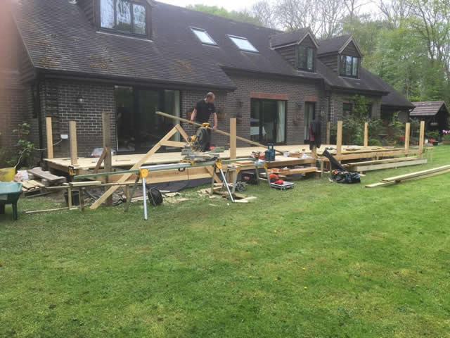 Large bespoke decking are in Newdigate 4