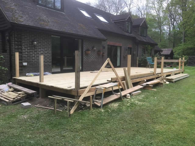 Large bespoke decking are in Newdigate 5