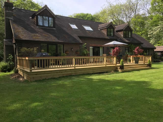 Large bespoke decking are in Newdigate 6
