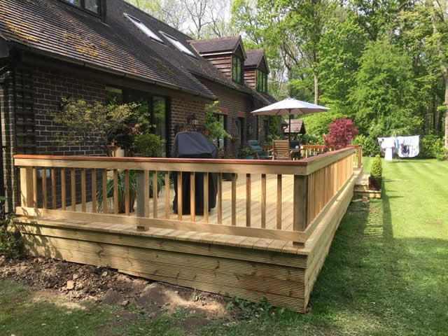 Large bespoke decking are in Newdigate 9