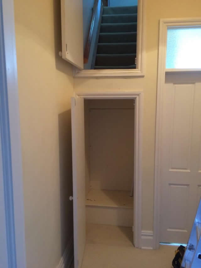 New staircase installed leading to storage space in loft 2