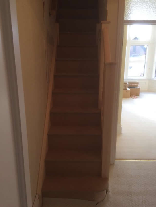 New staircase installed leading to storage space in loft 3