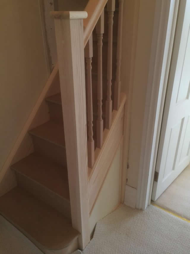 New staircase installed leading to storage space in loft 4