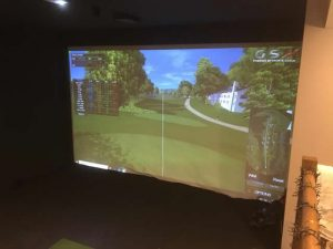 Entertainment unit golf simulator & cinema room Esher 5