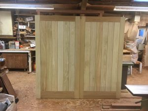 Bespoke hardwood Garage doors